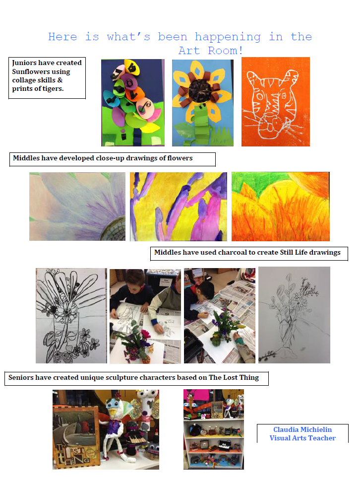 What's happening in the ART Room during Term 2, 2017