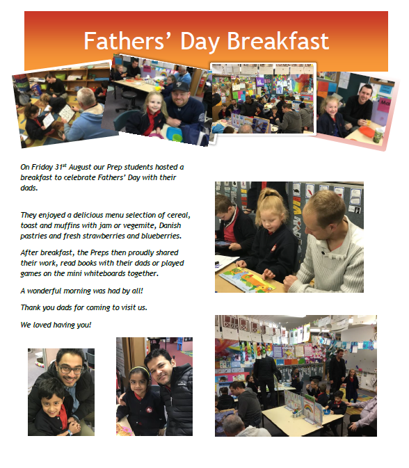 Prepds share breakfast with their dads for Fathers' Day