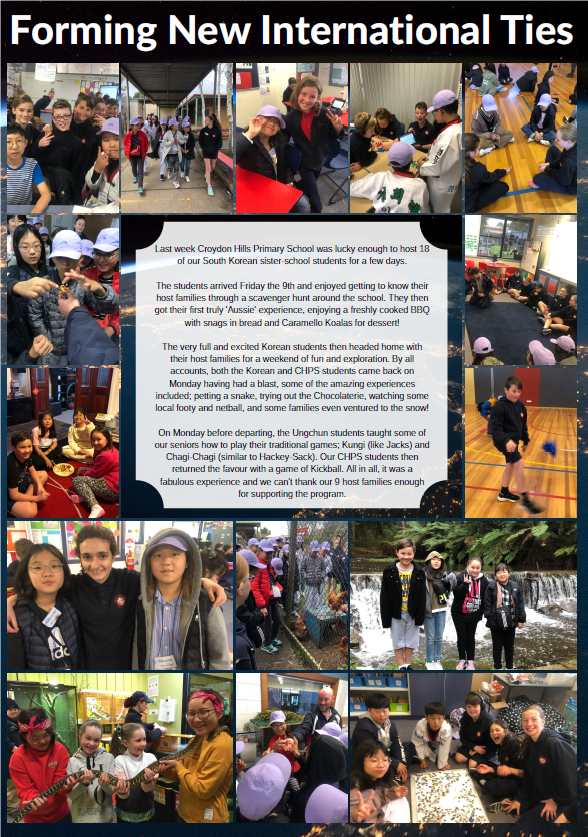 Students from our South Korean sister school visit