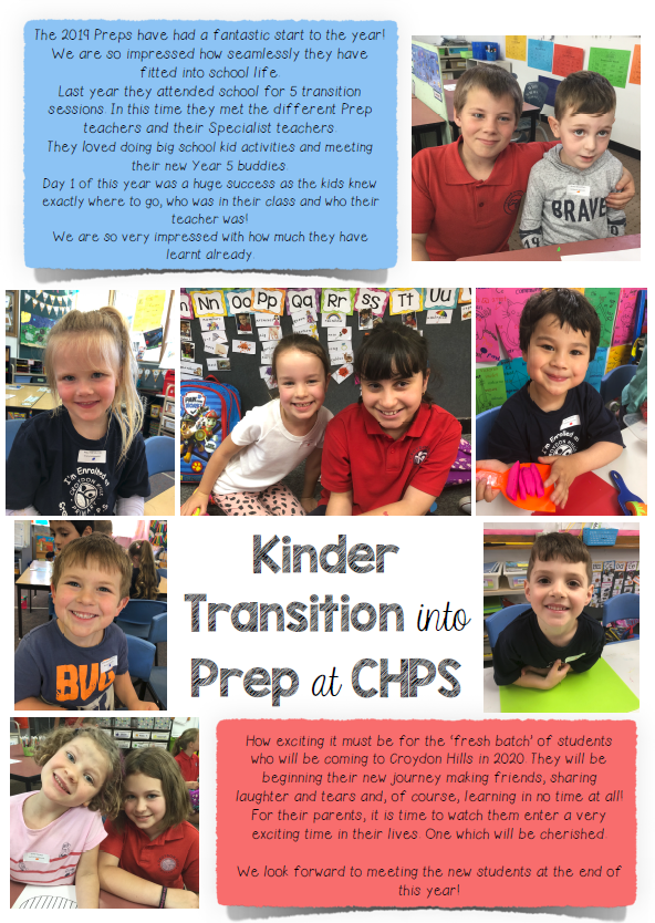 Transitioning from Kinder into Prep