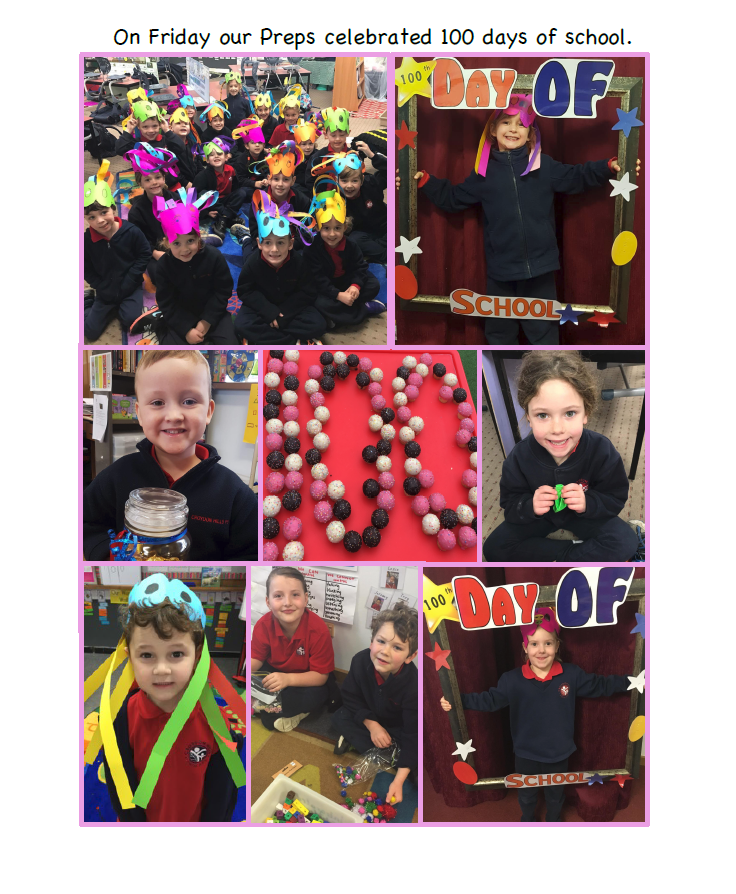 Prep students celebrated their first 100 days at school
