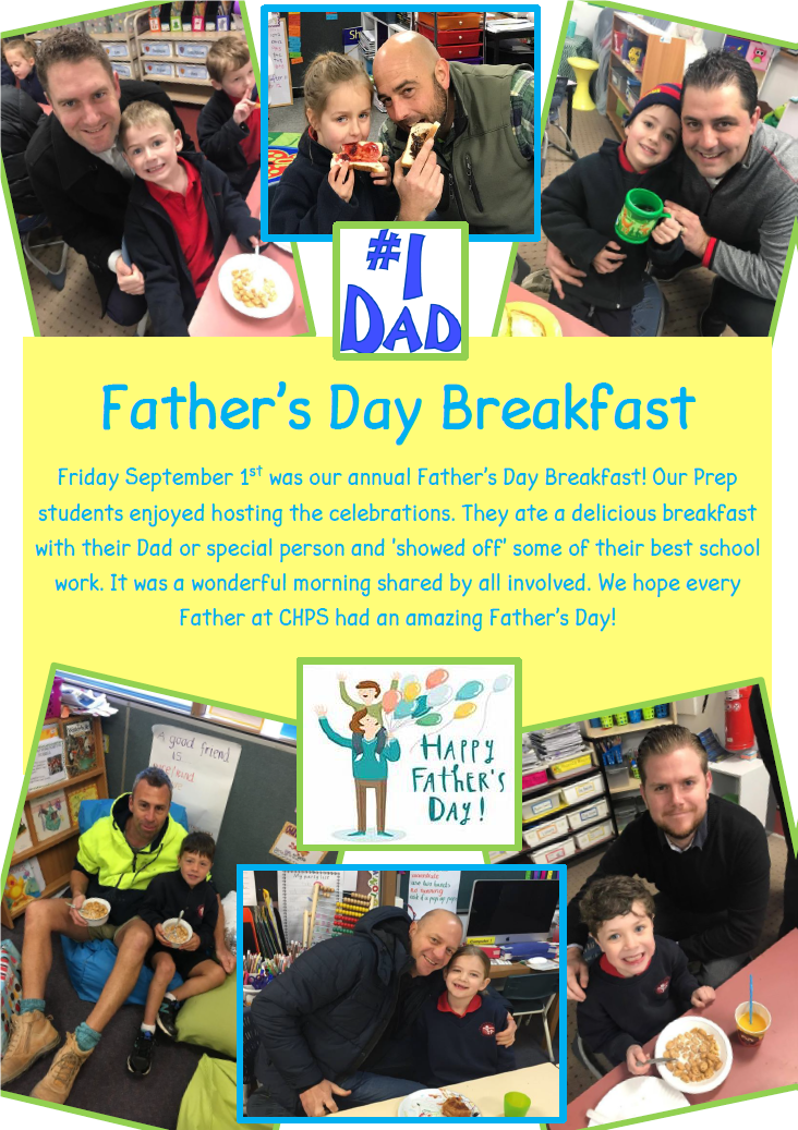 Preps invited their dads to join them for breakfast to celebrate Fathers Day.