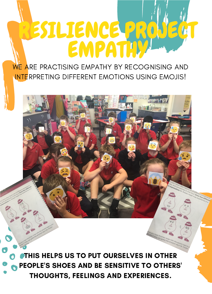 Working with The Resilience Project, students learn to use empathy .