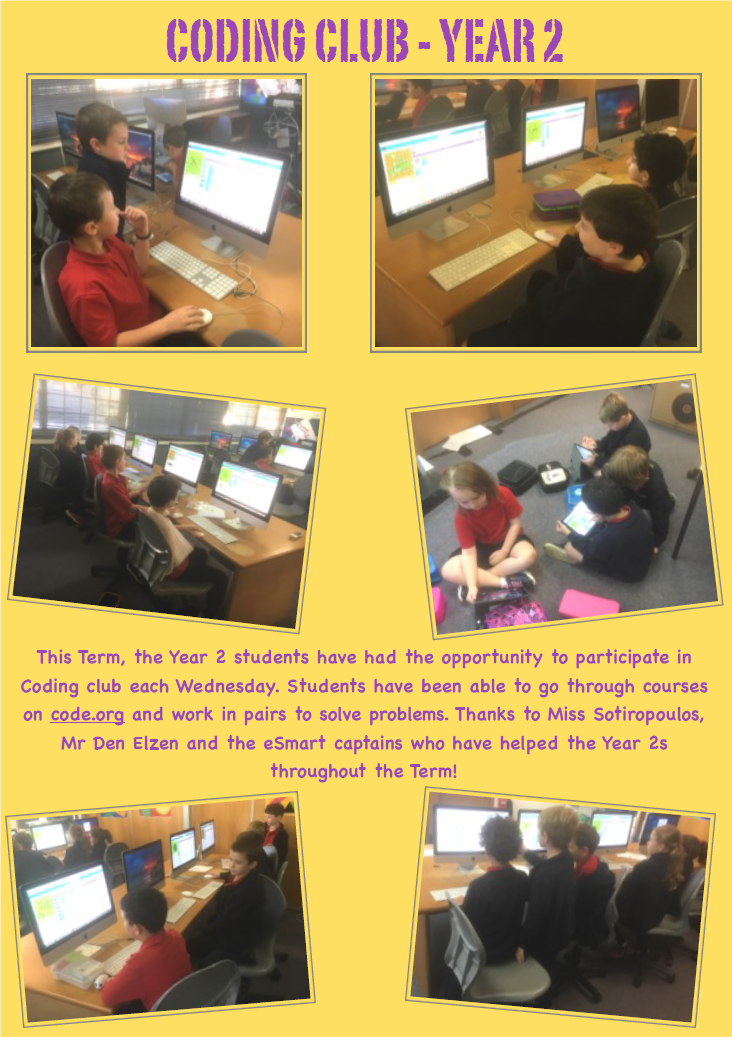 Year 2 Coding Club