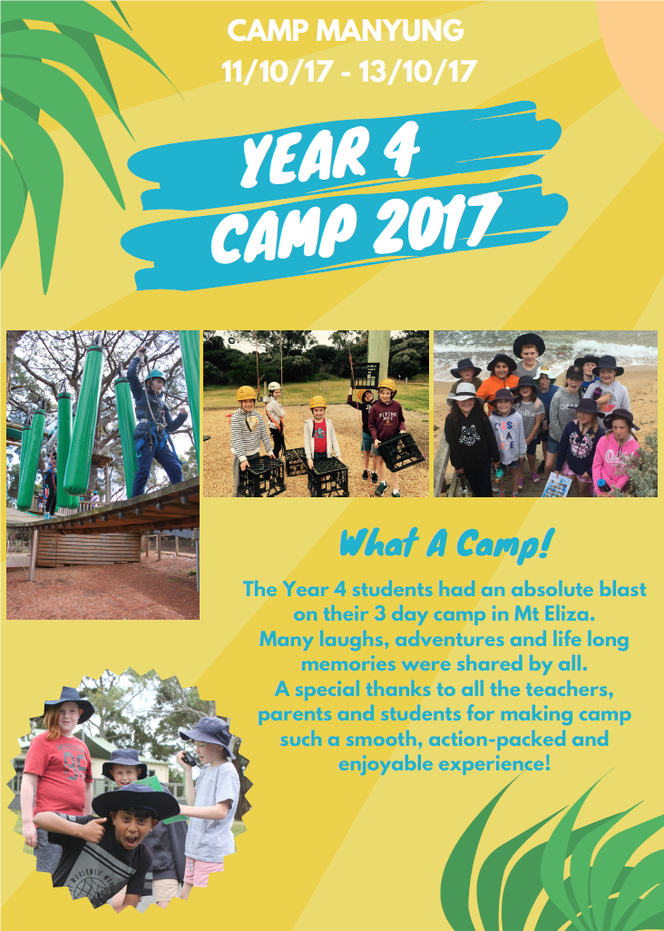 yEAR 4 STUDENTS AT cAMP mANYUNG 2017