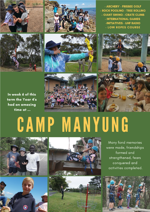 Year 4 Camp Mt Eliza